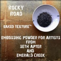 Seth Apter, Emerald Creek Baked Texture 17g Embossing Powder - Rocky Road